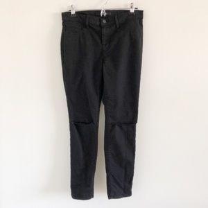 J Brand Skinny Leg Jeans In Black Destroy 30
